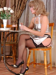 Provokingly Dressed Chick In Lace Top Stockings Tasting Pussy Of A Waitress^lick Nylons Nylon Porn Sex Girl Nylon Pantyhose Stockings Woman