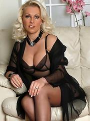 Horny Lana Cox Has Some Christmas Fun With Her Dildo^leggy Lana Nylon Porn Sex Girl Nylon Pantyhose Stockings Woman