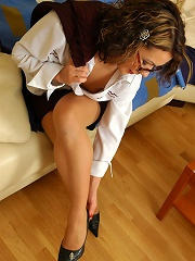 Sultry Business-lady Massaging Every Toe Of Her Yummy Feet Clad In Nylon^nylon Feet Line Nylon Porn Sex Girl Nylon Pantyhose Stockings Woman